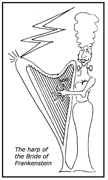 "Harp of the Bride of Frankenstein from ""Gurl's Guide to Amplification"""